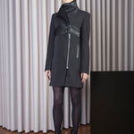 Load image into Gallery viewer, Leather Details Coat