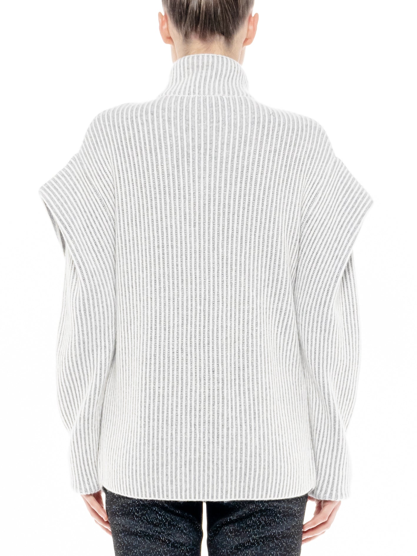 Pleated Shoulder Knit Jacket