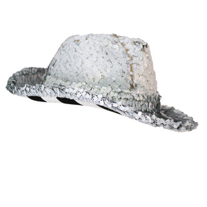 Silver Sequins Hat