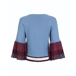 Load image into Gallery viewer, Pleated Sleeves Knitted Blouse