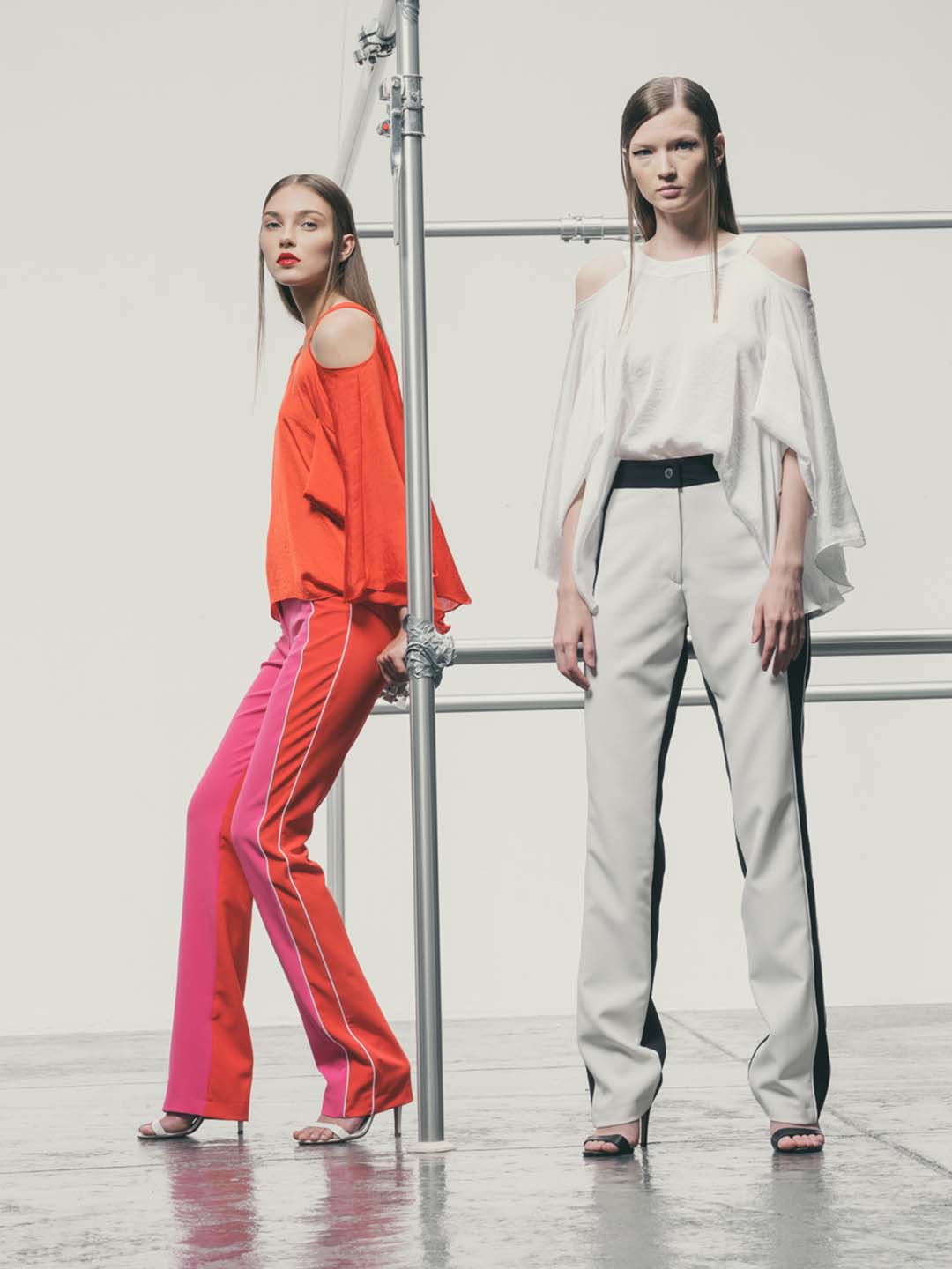 Flared Two Colour Pants
