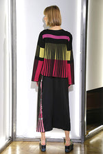 Load image into Gallery viewer, Color Block Pleated Back Cardigan