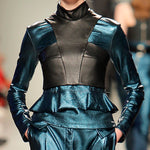 Load image into Gallery viewer, Ruffle Leather Look Top