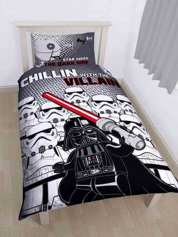 Image of Official Lego Star Wars Villains single duvet Reversible