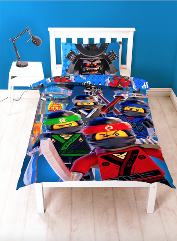 Image of LEGO Ninjago Movie  single duvet Reversible