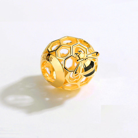 Bee Charm - Gold plated bead