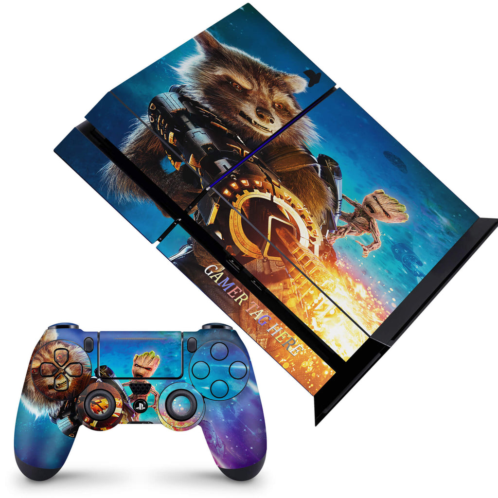 PS4 skin - Rocket & Groot Design
