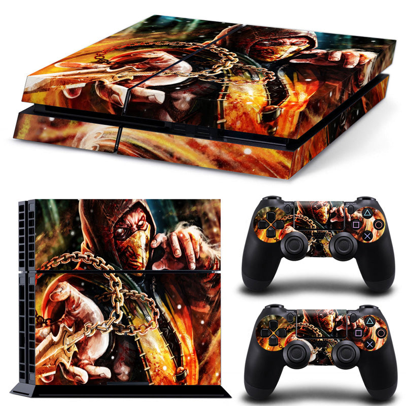 PS4 skin - Mortal Kombat scorpion Design