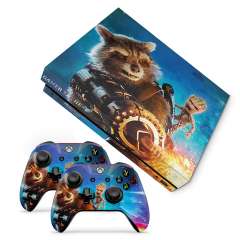 Xbox one x Rocket & Groot Design