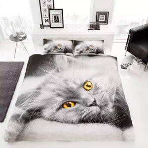 Duvet Cover Set – 3D Cat Design