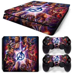 PS4 slim skin -Avengers Design