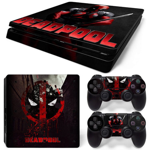 PS4 Slim Skin – Deadpool Design