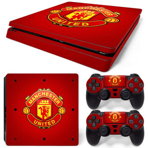 PS4 Slim Skin – Man U  Design