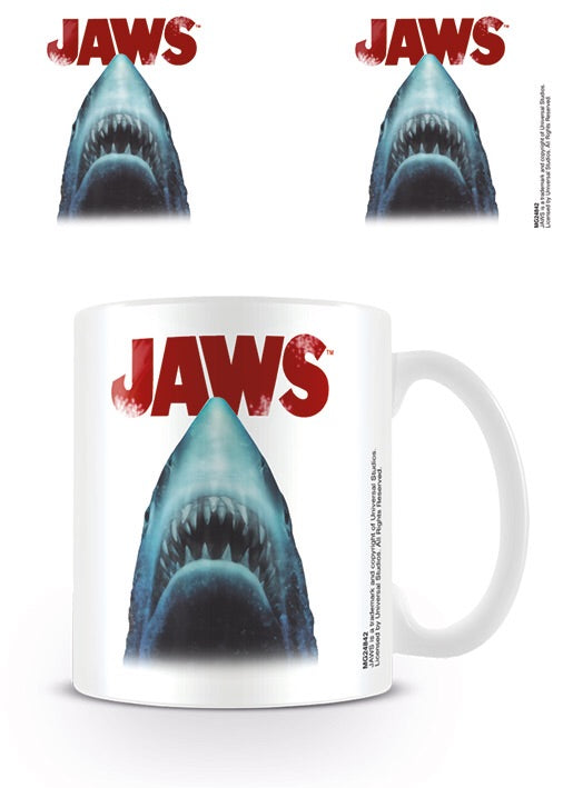 Jaws shark coffee mug, A huge variety of official licensed products boxed. Ideal gift 11oz with Free UK Delivery.