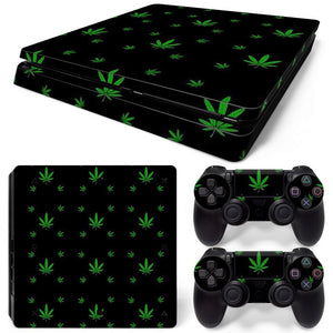 PS4 Slim Skin – Leaf Design