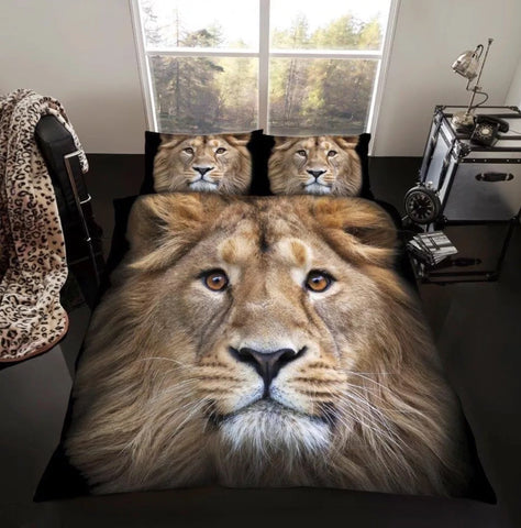 Duvet Cover Set – 3D Lion Design