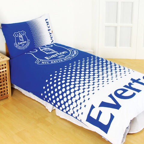 Image of Official Everton Fade single duvet set