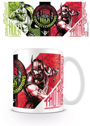 Marvel Thor vs Hulk coffee mug