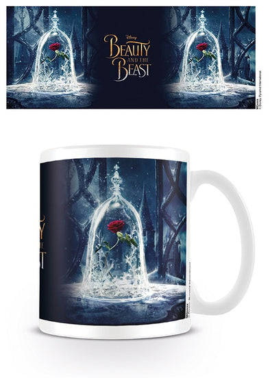 Disney's beauty and the beast enchanted rose coffee mug.