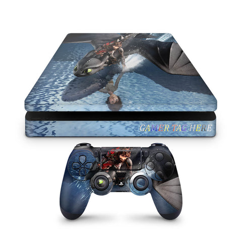 PS4 slim How to train your dragon design 1