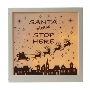 Christmas LED Sign - Santa Stop Here