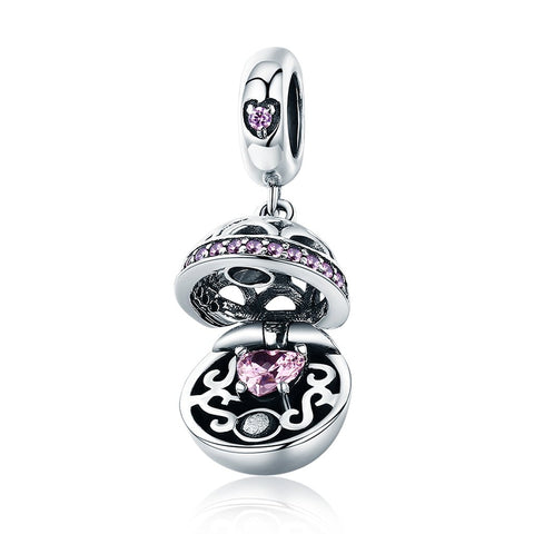 Image of Love Gift Box Ball Charm Pendant