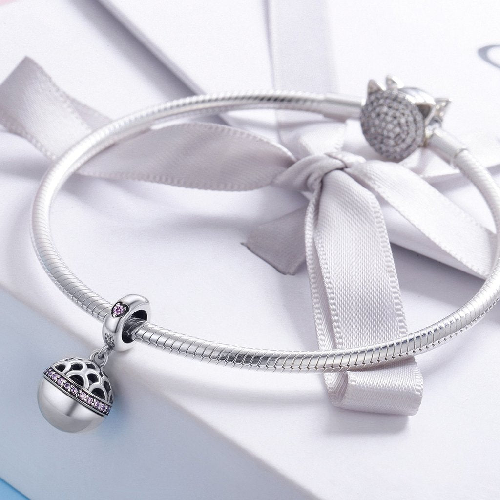 Love Gift Box Ball Charm Pendant
