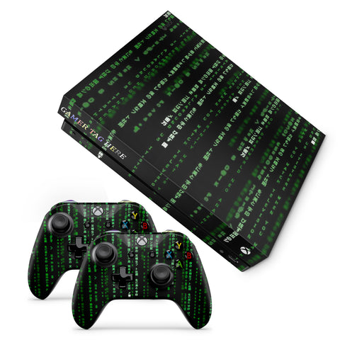 Xbox One X Matrix Code Design