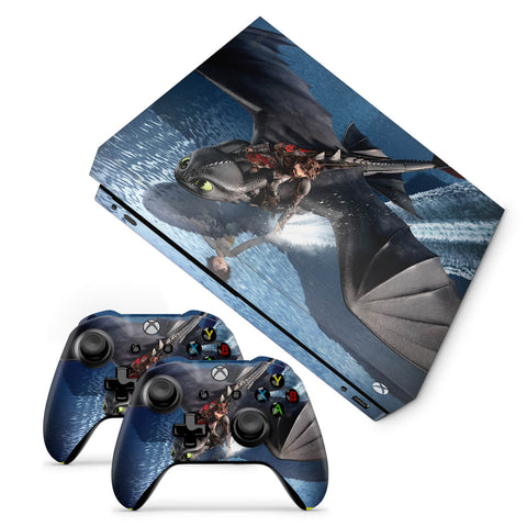 Xbox one x How to train your dragon Design 1