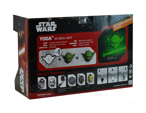 Star Wars - Yoda 3D Deco Light