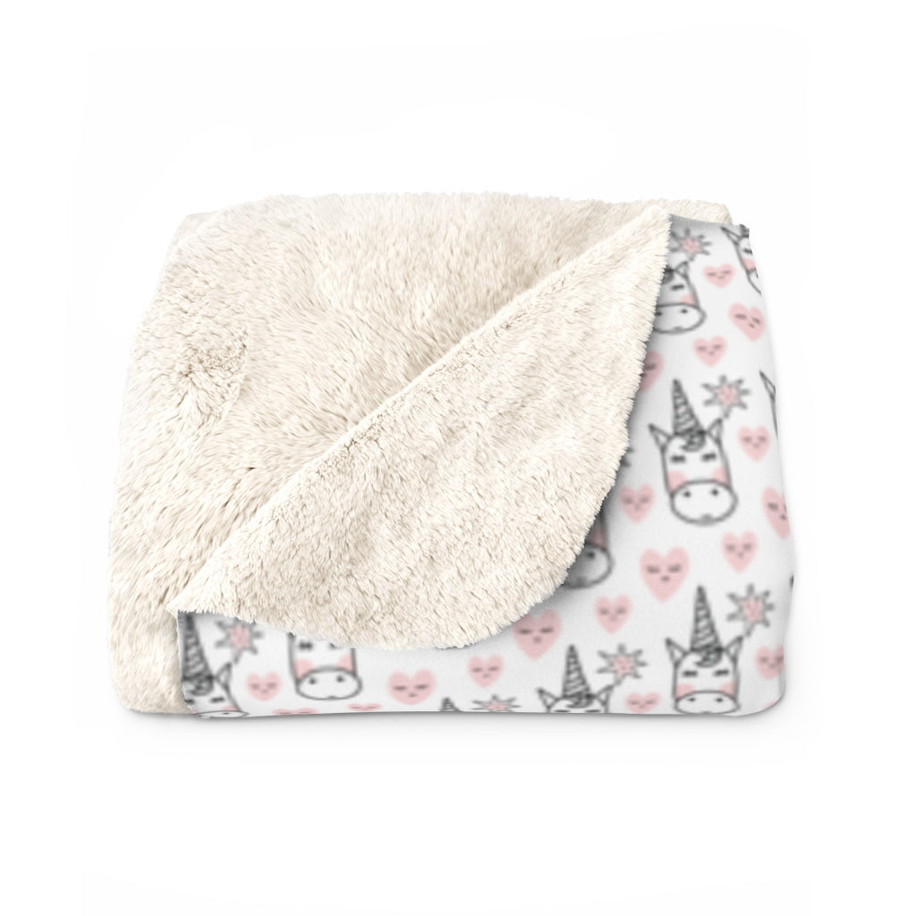 Unicorn Sherpa Fleece Blanket