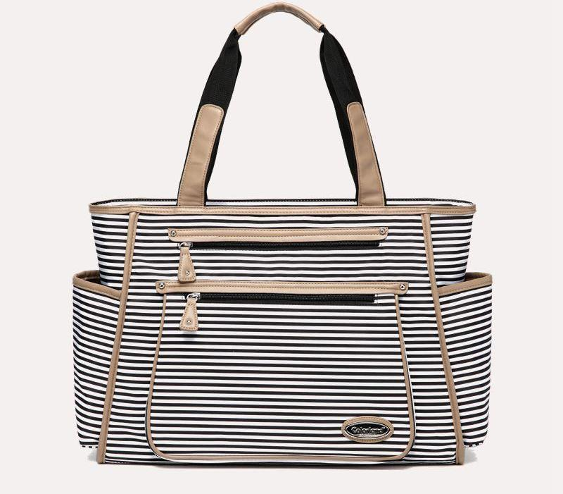 Shannon Striped Diaper Tote