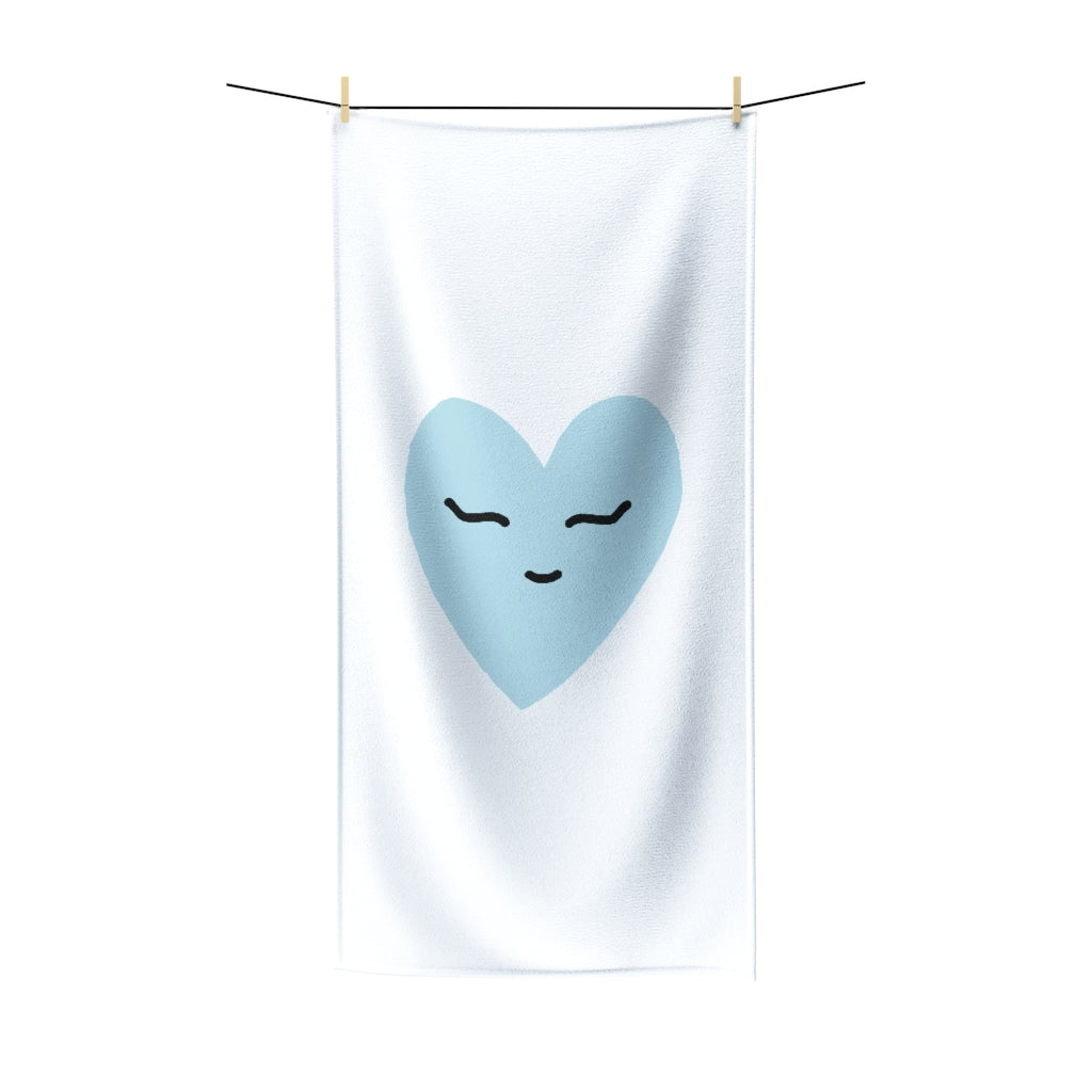 Blue Love Polycotton Towel