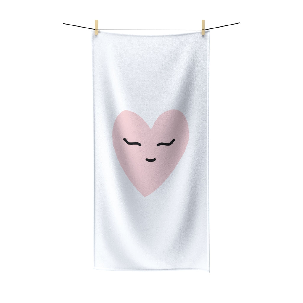 Pink Love Polycotton Towel