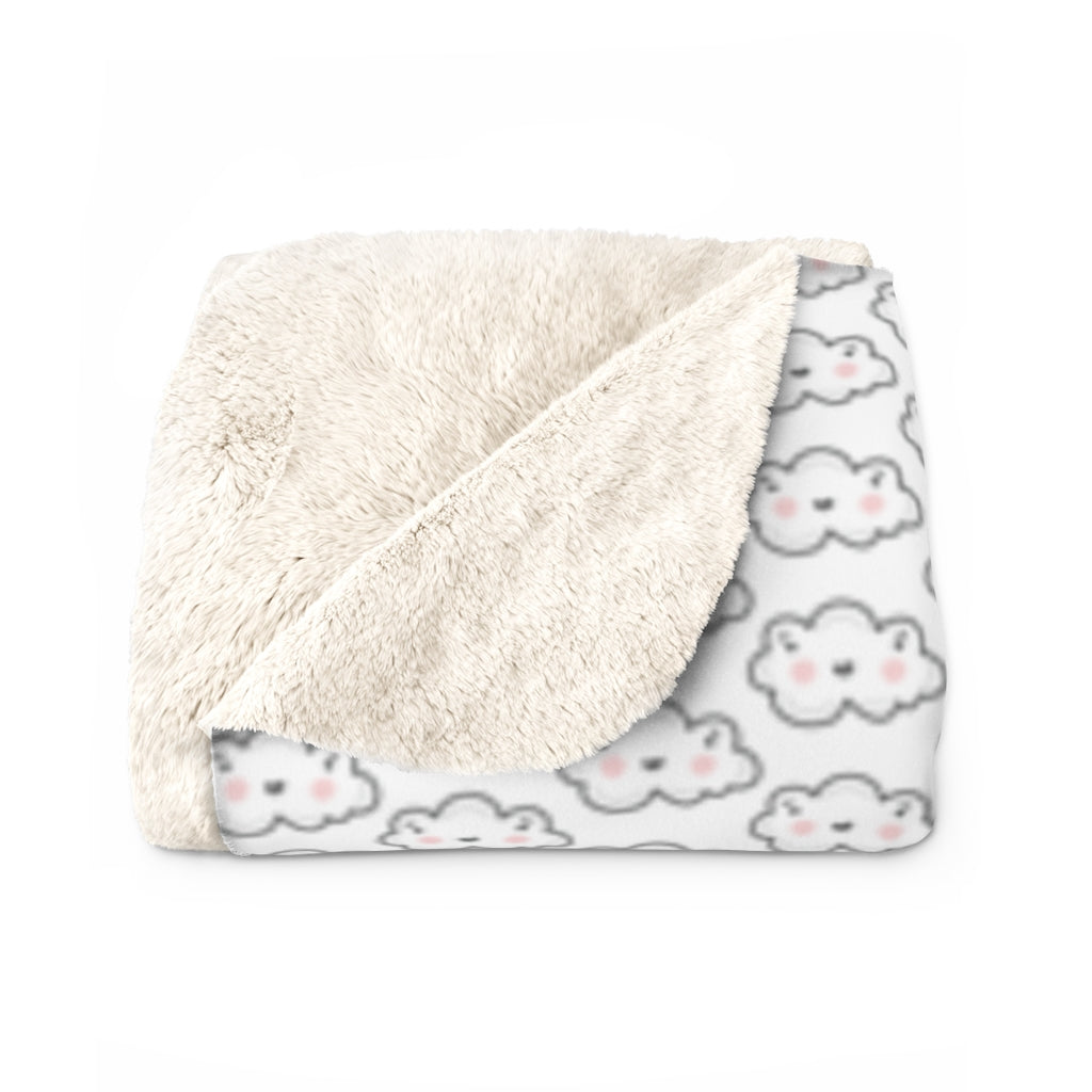 Cloudy Sherpa Fleece Blanket