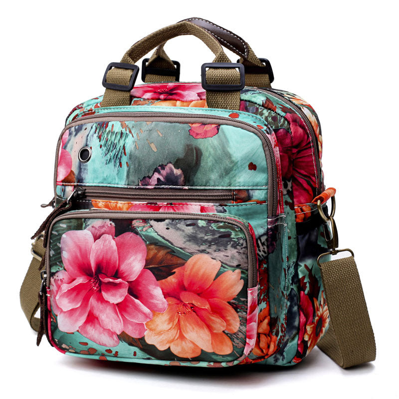 Multi-functional Floral Diaper Bag