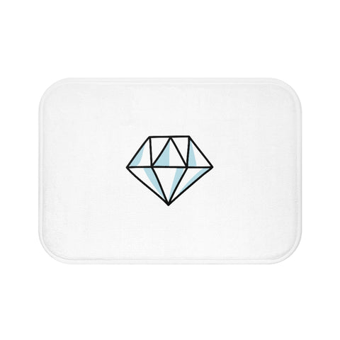Blue Diamond Bath Mat