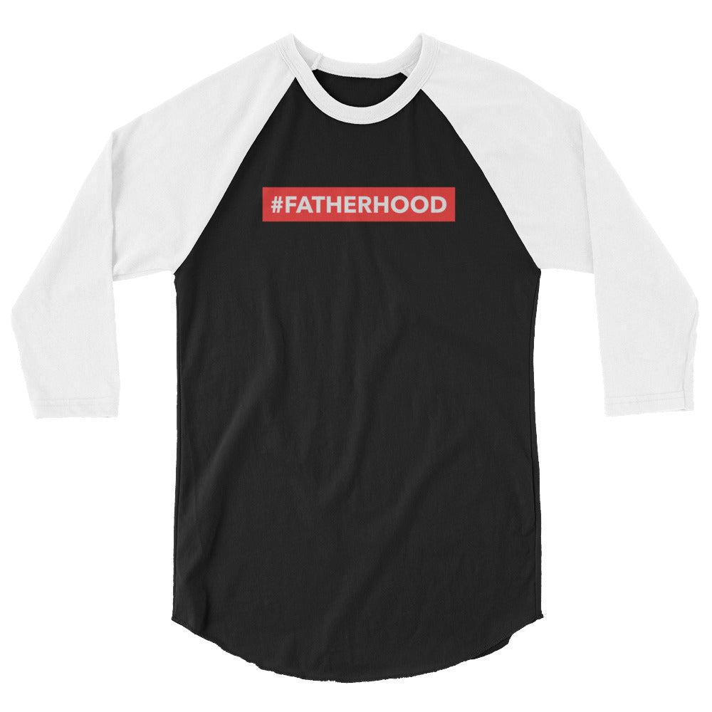 #Fatherhood 3/4 sleeve raglan shirt - Mini Me
