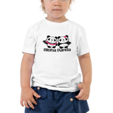 Aloha Panda Toddler Short Sleeve Tee