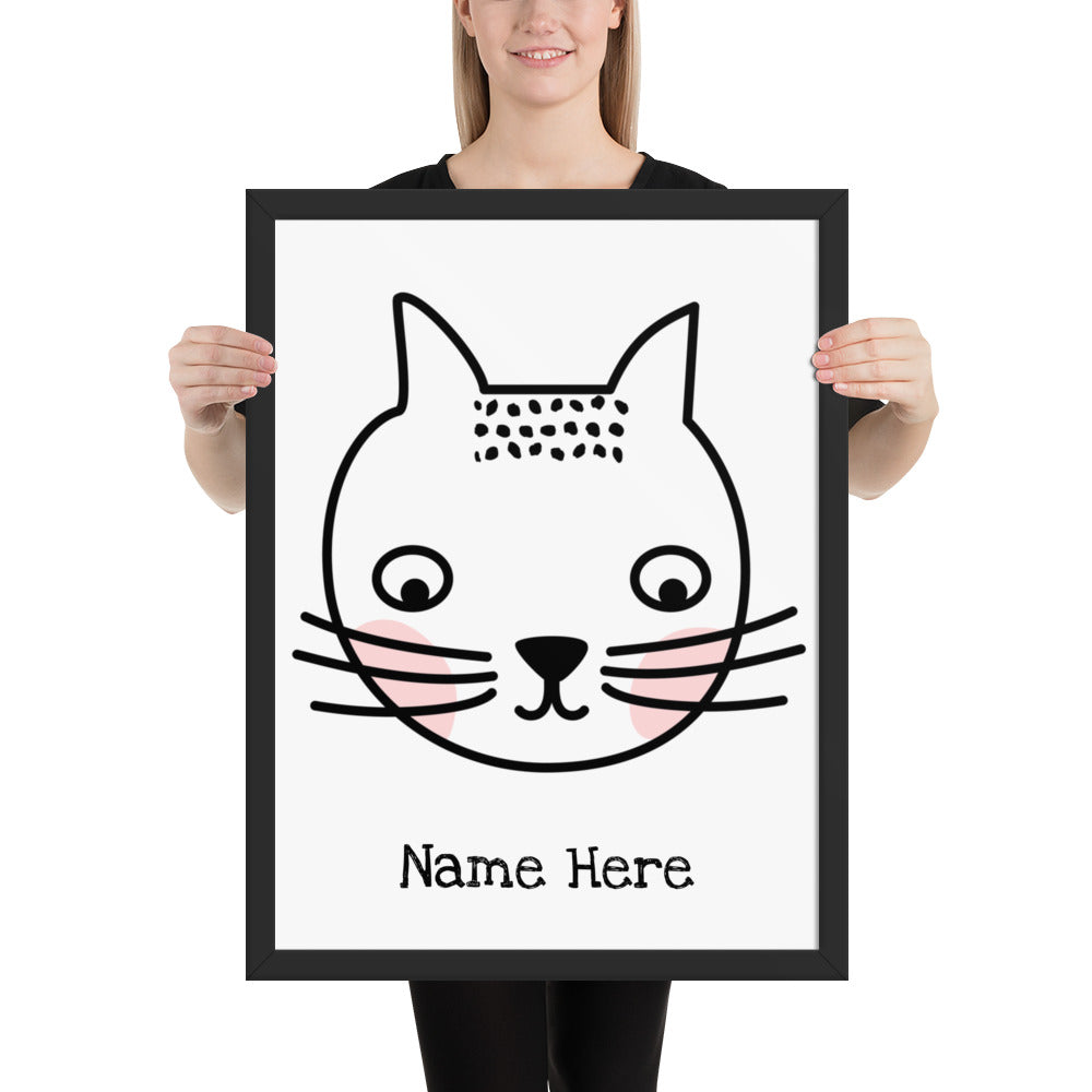 Personalized Cat Framed Poster