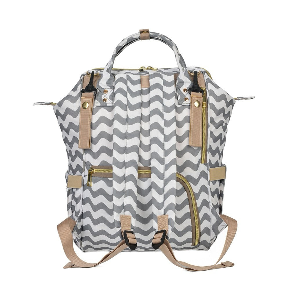 Natalie Chevron Diaper Backpack Set