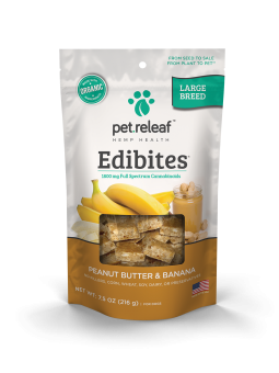Large Breed CBD Hemp Oil Edibites – Peanut Butter Banana