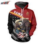 UJWI New USA Hoodies Men/Women Sweatshirt JULY FOURTH Hooded UnitedStates America Independence Day Hoody 3D National Flag