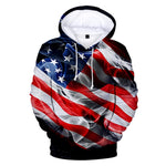 USA Hoodies Sweatshirt America Independence Day National Flag Hoodie Men Women Pullover Tops Boys/Girls Hooded XXS-4XL
