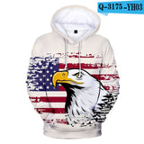 America Independence Day National Flag Hoodies Men Women USA Hoodie Sweatshirt Pullover Fashion Tops Boys/Girls 3D Print Hooded