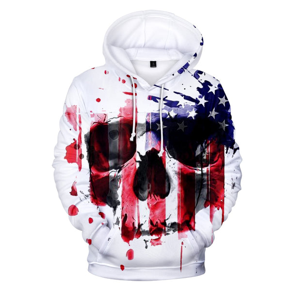 USA Hoodies Sweatshirt America Independence Day National Flag Hoodie Men Women Pullover Tops Boys/girls Hooded XXS-4XL 3D Casual