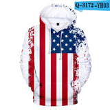 USA Independence Day National Flag Hoodies Men/Women 3D Design Hoodie Sweatshirt Pullover America Hooded National Flag Tops