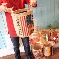 Vintage Hemp Storage Basket