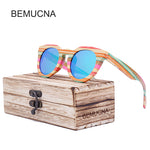 Wood Sunglasses Rainbow