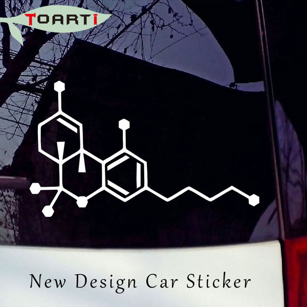 Thc Molecule Vinyl Decal